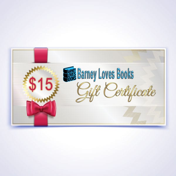 Barney Loves Books Gift Certificate - $15