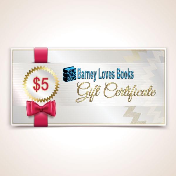 Barney Loves Books Gift Certificate - $5